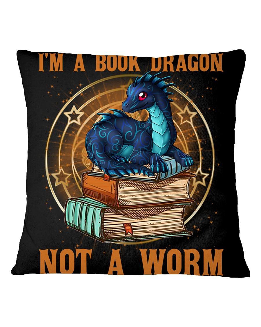 I'M A BOOK DRAGON Square Pillowcase