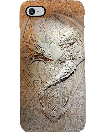 DRAGON AND CROSS PHONECASE