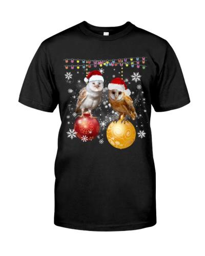 OWLS ON THE CHRISTMAS BALLS