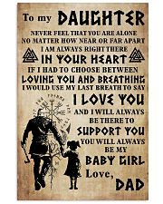 TO MY DAUGHTER I LOVE YOU 24x36 Poster front