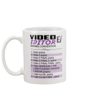 Video Editor - Naming Convention Mug - Coffee Mug Mug back