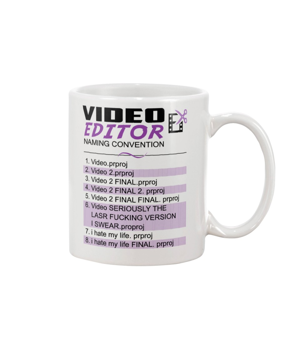 Video Editor - Naming Convention Mug - Coffee Mug Mug