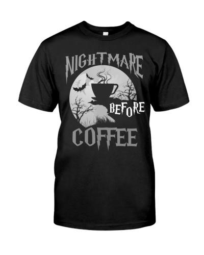 Cute Nightmare Before Coffee Halloween T-Shirt