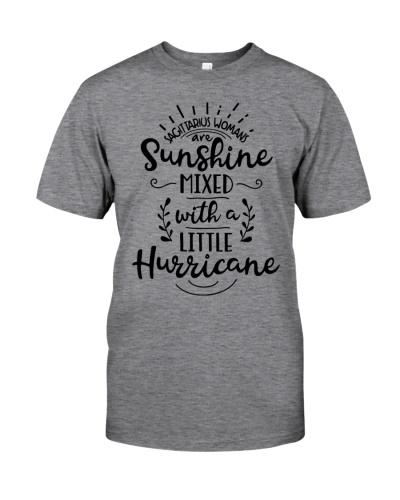 Sagittarius woman sunshine mixed with hurricane