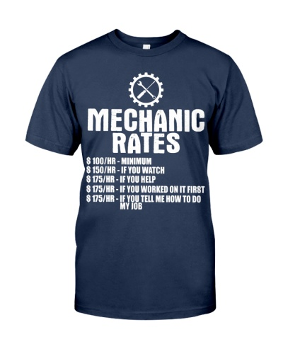 Mechanic Funny Gift - Mechanic Rates T-Shirt