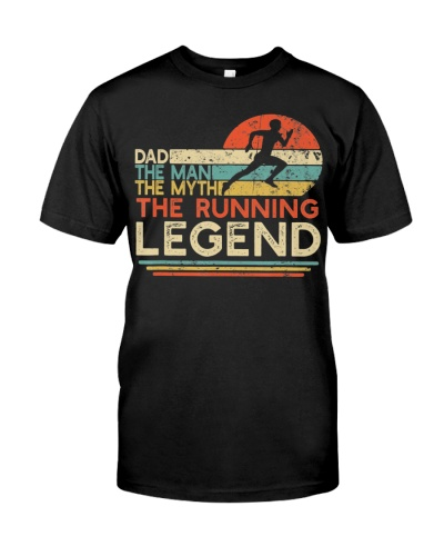 Vintage Running Dad The Man The Myth The Legend
