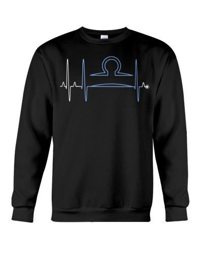 Libra Zodiac Sign Heartbeat T-Shirt