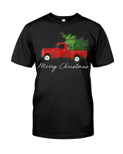 Vintage Tree on Car Merry Christmas
