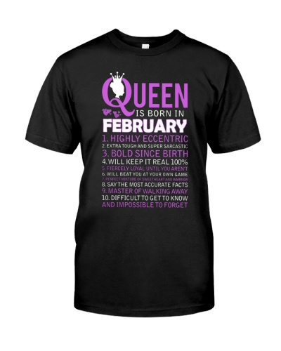 Queen Borns In February T-Shirt
