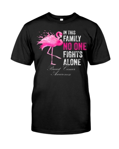 Flamingo Pink Ribbon In This Family No One Fights