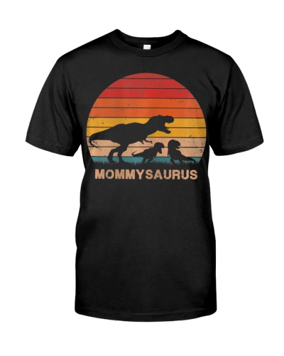 Mommy Dinosaur Mommysaurus 2 Two Kids Son Daughter