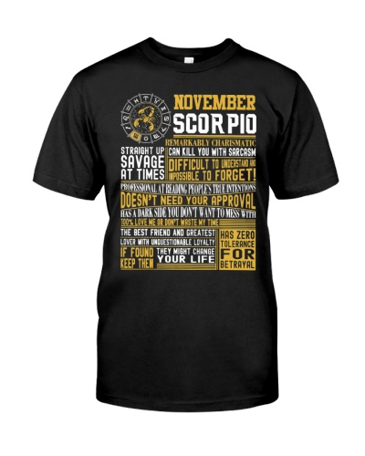 Best Born In November Scorpio Facts Shirts For Men