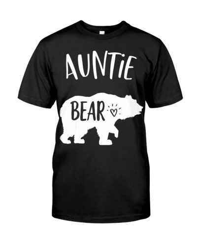 Cute Aunties Bear Shirt For Best Aunt In The World