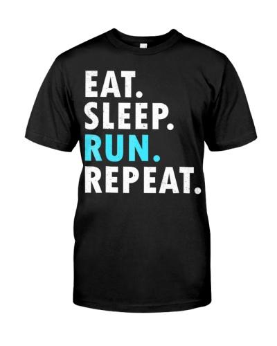 Eat Sleep Run Repeat Marathon Running 5K Runner