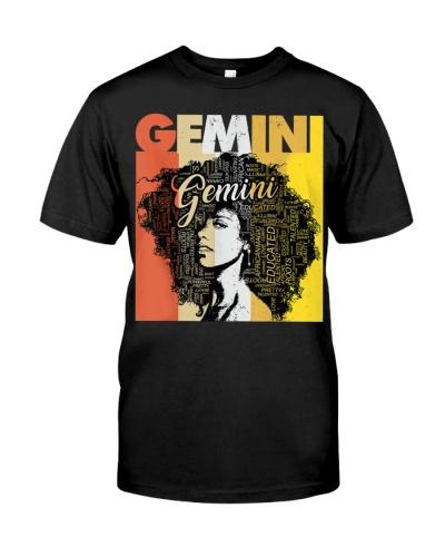 Gemini Pride - Women Natural Hair Art Word