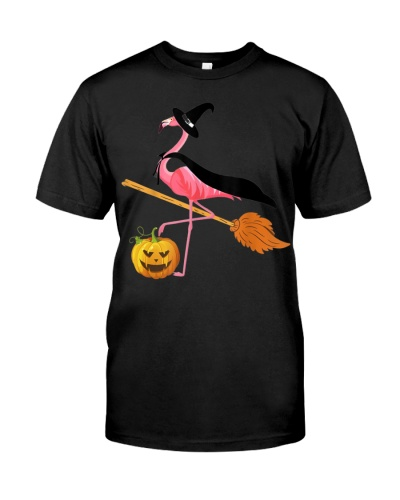 Flamingo Witch Pumpkin Flamingo Halloween