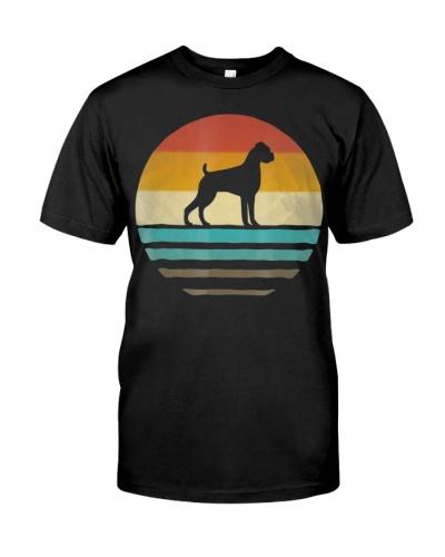 Boxer Dog Shirt Retro Vintage 70s Silhouette Breed