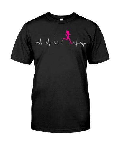 Womens Runners Heartbeat Running Heartbeat