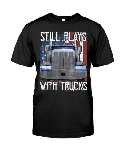 Plays With Trucks Trucker Shirt Truck Driver Shirt