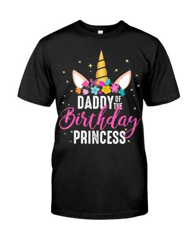 Daddy Of The Birthday Princess Father Girl Unicorn
