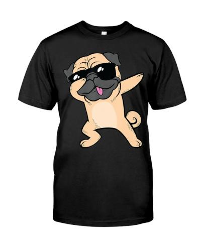 Dabbing Pug TShirt Dog Dab Animal Cool Sunglasses