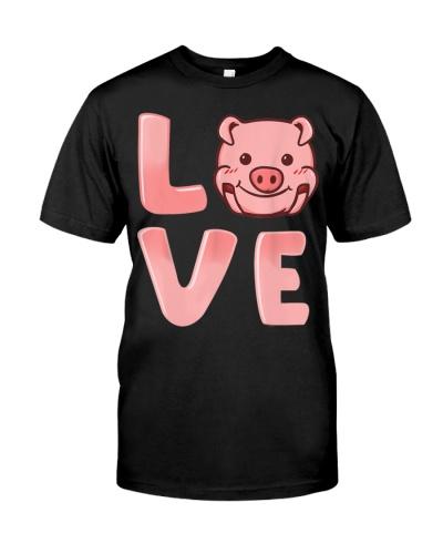 Pigs Love Farmer Farming Valentines Gift T-Shirt