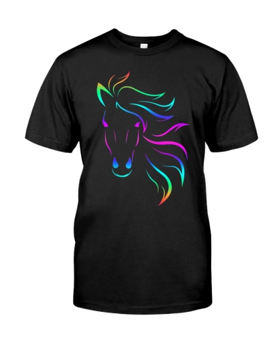 Horse Lovers Horseback Riding Equestrian Colorful