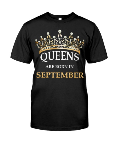 Women's Queens Are Born In September Birthday Gift