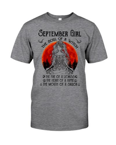 Hippie Birthday Gift September Girl The Soul Of