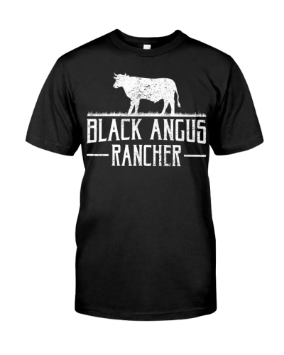 Black Angus Cow Rancher Funny Beef Cattle Meat