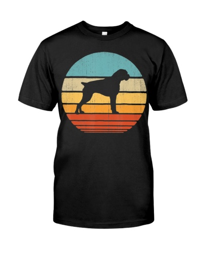 Boxer Vintage Silhouette 60s 70s Retro Gifts Dog