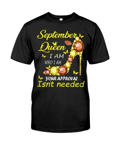 Womens September Girl I Am Who I Am Funny Birthday
