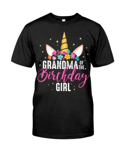Grandma Of The Birthday Girl Grandma Gift Unicorn