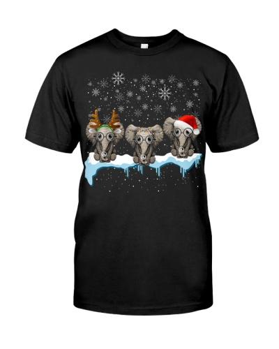 Christmas Three Hippie Elephants