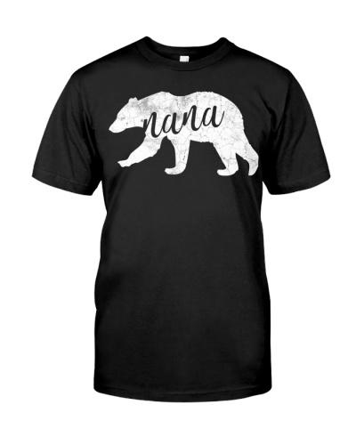 Cute Nana Bear Shirt Grandmother T-Shirt
