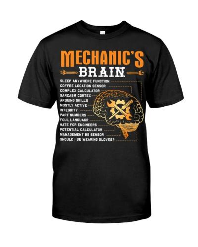 Funny Mechanic Gifts - Mechanic's Brain T-Shirt