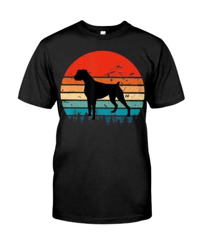 Vintage Retro Shirt Boxer Dog Lover T-Shirt