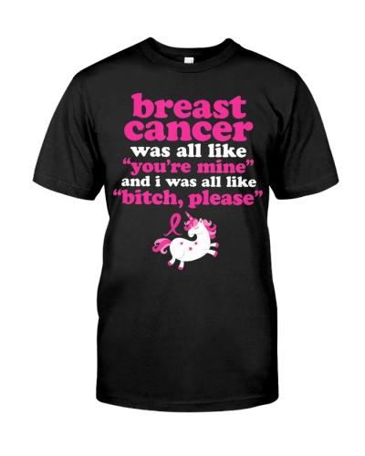 Funny Breast Cancer Survivor Bitch Please Unicorn