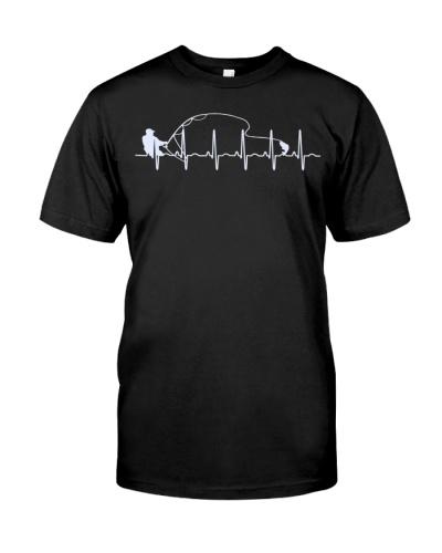 Fly Fishing Heartbeat Fish T-Shirt