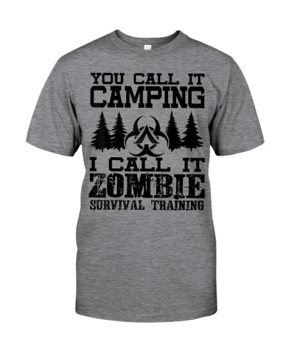 Zombie Survival Training Camping Shirt