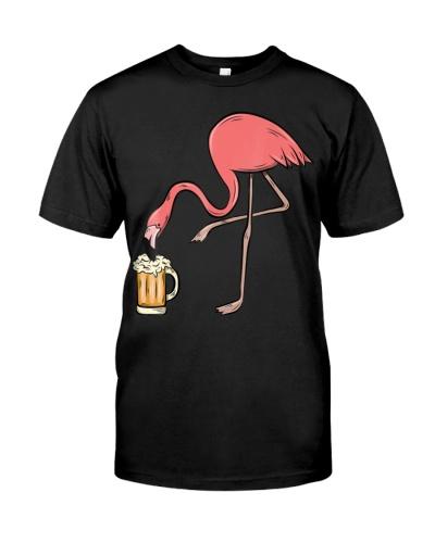 Flamingo Drinking Beer - Funny Pink Flamingo Shirt