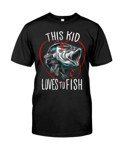 Kids Fishing T-Shirt This Kid Loves To Fish Shirt
