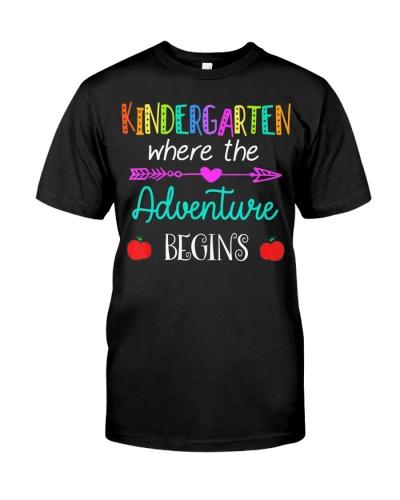 Kindergarten Where The Adventure Begins T-Shirt