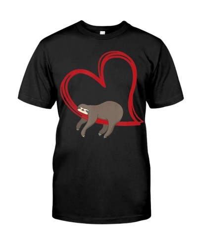 Valentines Sloth Shirt Girls Women Sloths Gifts
