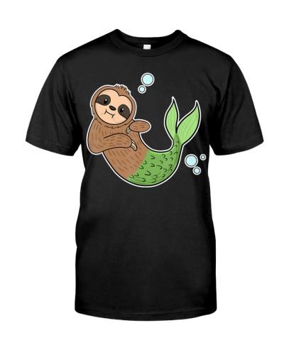 Mermaid Sloth Cute Slow Animal Sea Creature Girls