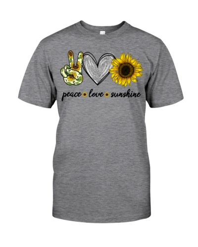 Peace Love Sunshine Sunflower Hippie T-Shirt
