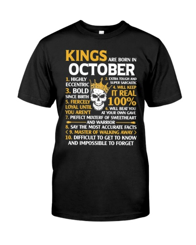 Kings Are Born In October Shirt