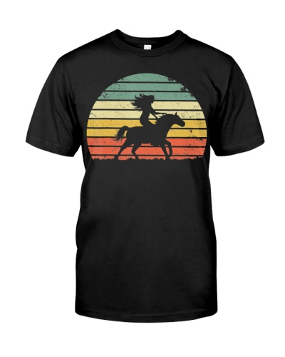 Girl Horse Riding Shirt Vintage Cowgirl T-Shirt