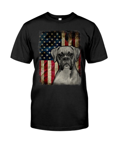 Boxer Dog 4th Of July American Flag Patriotic Gift