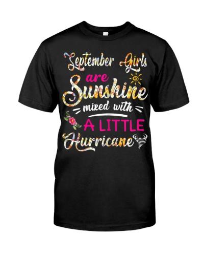 September Girl Are Sunshine Mixed Little Hurricane